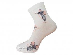 Dámské Společenské Ponožky Wola artikl 747 krémová