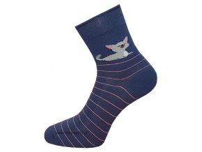 Dámské Společenské Ponožky Wola artikl 498 modrá