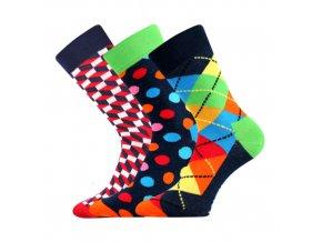 Společenské ponožky 3 kusy v balení Lonka Woodoo mix A