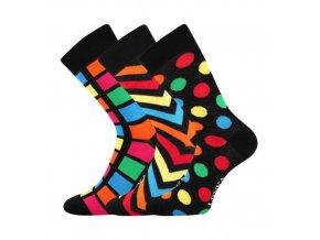 Společenské ponožky 3 kusy v balení Lonka Woodoo mix H