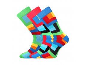 Společenské ponožky 3 kusy v balení Lonka Wearel 013