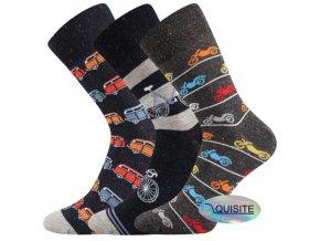 Společenské ponožky 3 páry v balení Lonka Harry mix A