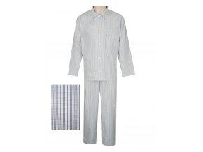 Pánské Pyžamo Popelín FOLTÝN PI10 modrá kostička