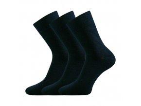 Bambusové ponožky 3 kusy v balení Lonka Badon tmavě modrá