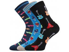 Dětské ponožky 3 kusy v balení Boma 057 21 43 VIII mix vzorů A