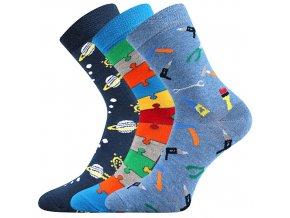 Dětské ponožky 3 kusy v balení Boma 057 21 43 VIII mix vzorů B