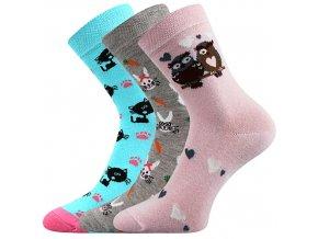 Dětské ponožky 3 kusy v balení Boma 057 21 43 VIII mix vzorů C
