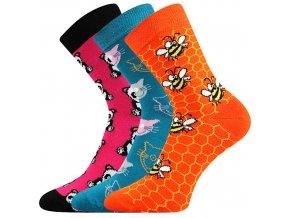 Dětské ponožky 3 kusy v balení Boma 057 21 43 VIII mix vzorů D
