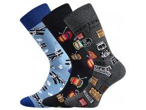 Společenské ponožky 3 kusy v balení Lonka Depate mix B