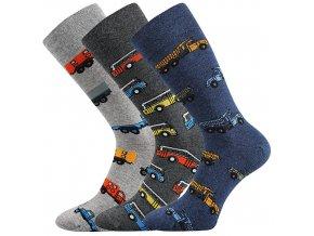 Společenské ponožky 3 kusy v balení Lonka Depate mix F