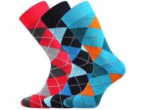 Společenské ponožky 3 kusy v balení Lonka Wearel 017