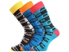 Společenské ponožky 3 kusy v balení Lonka Wearel 020