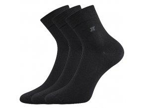 Zdravotní ponožky 3 kusy v balení Lonka Dion černá