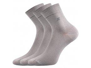 Zdravotní ponožky 3 kusy v balení Lonka Dion světle šedá
