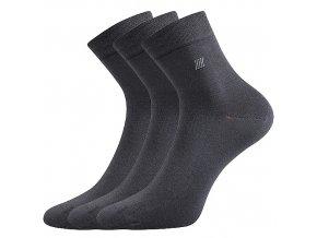 Zdravotní ponožky 3 kusy v balení Lonka Dion tmavě šedá