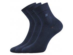 Zdravotní ponožky 3 kusy v balení Lonka Dion tmavě modrá