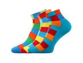 Společenské ponožky 3 kusy v balení Lonka Becube mix A