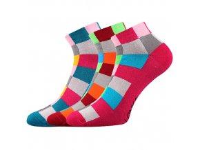 Společenské ponožky 3 kusy v balení Lonka Becube mix D