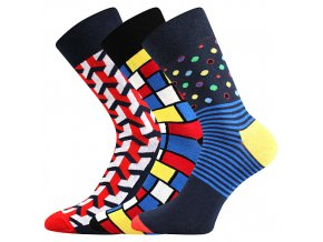Společenské ponožky 3 kusy v balení Lonka Dimage mix F