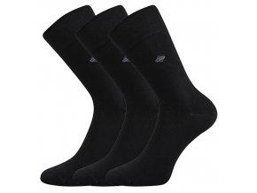 Zdravotní ponožky 3 kusy v balení Lonka Diagon černá