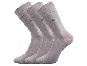 Zdravotní ponožky 3 kusy v balení Lonka Diagon světle šedá