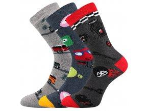 Dětské ponožky 3 kusy v balení Boma Sibiř Protiskluzové 06 Kluk