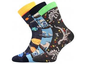 Dětské ponožky 3 kusy v balení Boma 057 21 43 IX mix vzorů A
