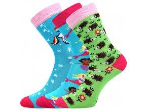 Dětské ponožky 3 kusy v balení Boma 057 21 43 IX mix vzorů C