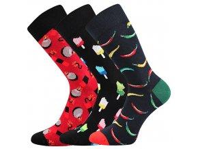 Společenské ponožky 3 kusy v balení Lonka Depate mix G
