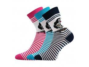 Dětské ponožky 3 kusy v balení Boma Krtek mix E