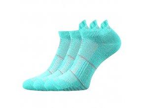 Ponožky VoXX 3 kusy v balení Avenar tyrkysová