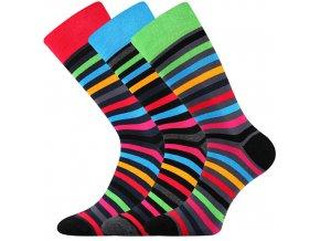 Společenské ponožky 3 kusy v balení Lonka Deline mix A