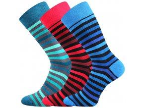 Společenské ponožky 3 kusy v balení Lonka Deline mix I