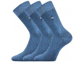 Společenské ponožky 3 kusy v balení Lonka Despok Jeans