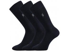 Společenské ponožky 3 kusy v balení Lonka Despok Tmavě modrá