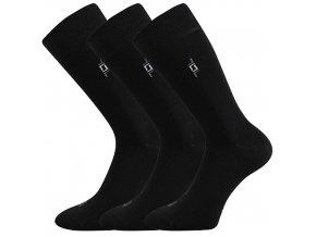Společenské ponožky 3 kusy v balení Lonka Despok černá