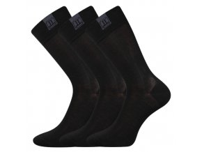 Společenské ponožky 3 kusy v balení Lonka Destyle Černá