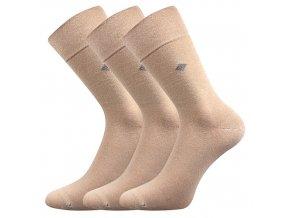 Společenské ponožky 3 kusy v balení Lonka Diagon béžová
