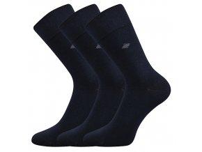 Společenské ponožky 3 kusy v balení Lonka Diagon tmavě modrá