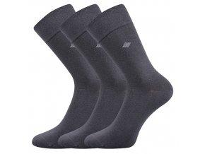 Společenské ponožky 3 kusy v balení Lonka Diagon tmavě šedá