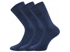 Společenské ponožky 3 kusy v balení Lonka Diagram jeans