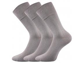 Společenské ponožky 3 kusy v balení Lonka Diagram světle šedá