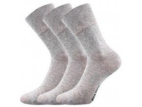 Společenské ponožky 3 kusy v balení Lonka Diagram šedá melé