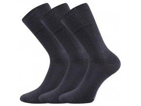 Společenské ponožky 3 kusy v balení Lonka Diagram tmavě šedá