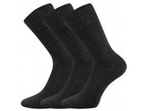 Společenské ponožky 3 kusy v balení Lonka Diagram antracit