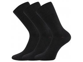 Společenské ponožky 3 kusy v balení Lonka Diagram černá