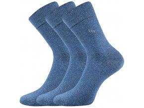Zdravotní ponožky 3 kusy v balení Lonka Dipool jeans