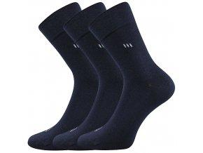 Zdravotní ponožky 3 kusy v balení Lonka Dipool tmavě modrá