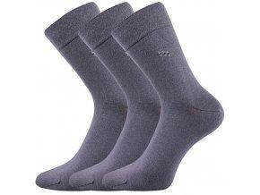 Zdravotní ponožky 3 kusy v balení Lonka Dipool šedá