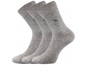 Zdravotní ponožky 3 kusy v balení Lonka Dipool šedé melé
